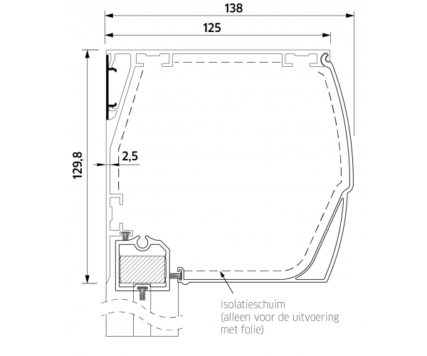 ZB TOP+ SMART ZIP 130  Super Windvast Boog